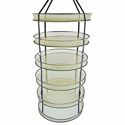 Growtent Garden 2ft 6 Layer Collapsible Mesh Hanging Hydroponic Plant  Drying Rack Net   Kush And Kind