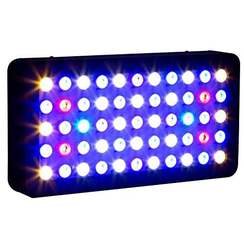 galaxyhydro led 55x3w dimmable 165w full spectrum led aquarium light